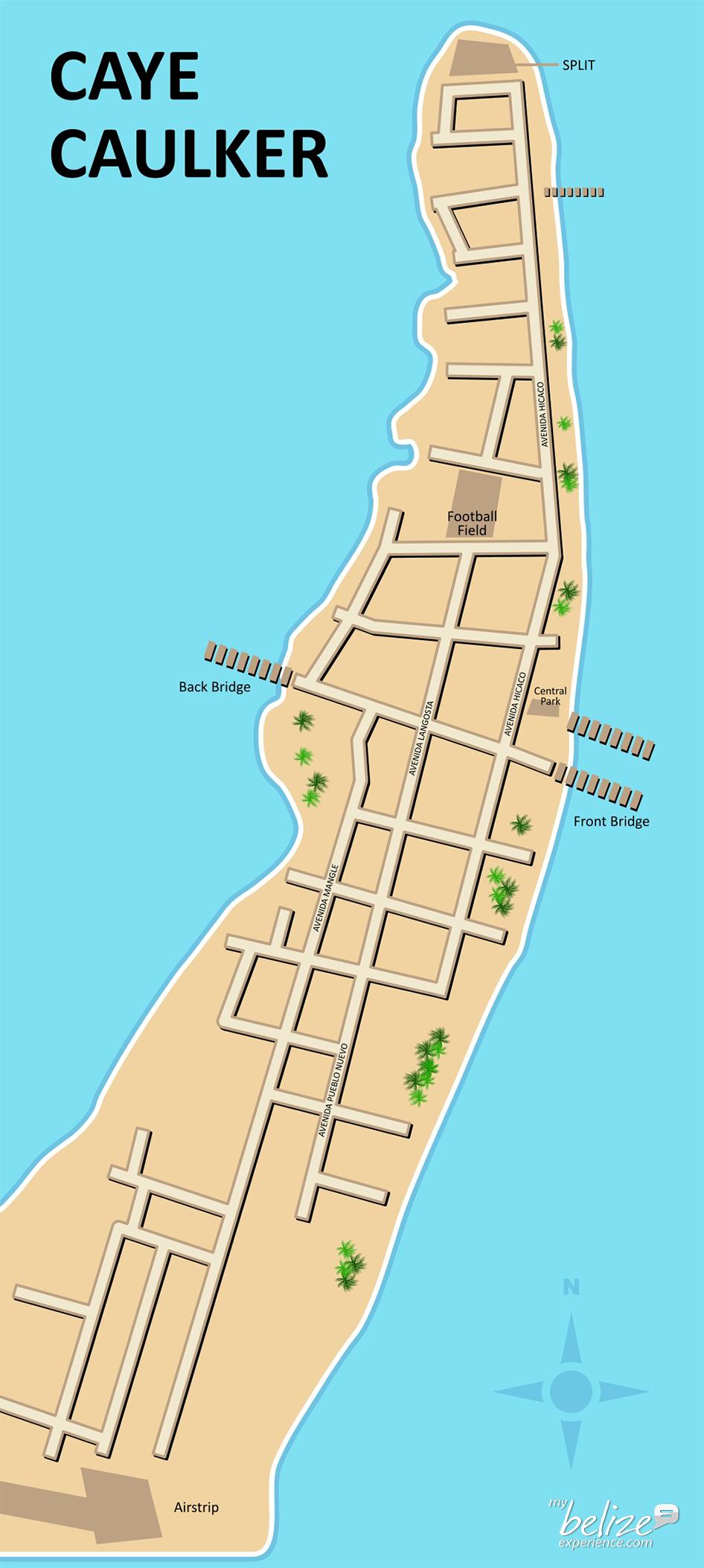 Caye Caulker Map